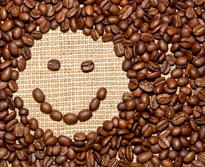 coffee beans smile