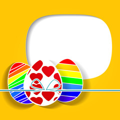 Easter greeting card with egg.Vector illustration. EPS 10