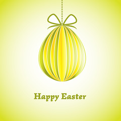 Easter greeting card with egg. Vector illustration. EPS 10
