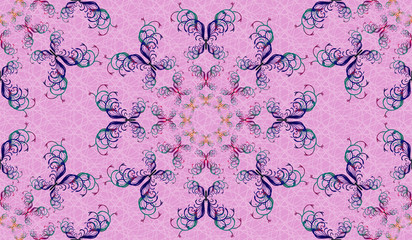 Seamless background with butterflies. There is an option in the