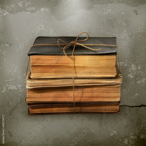 Stack of old books, old style vector