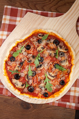 Home Made Pizza - Sun Dried Tomatoes and Meat
