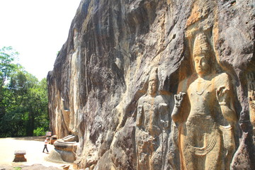 Buduruwagala temple ncient buddhist temple in Sri Lanka