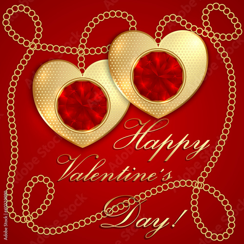 Vector saint valentine greeting card