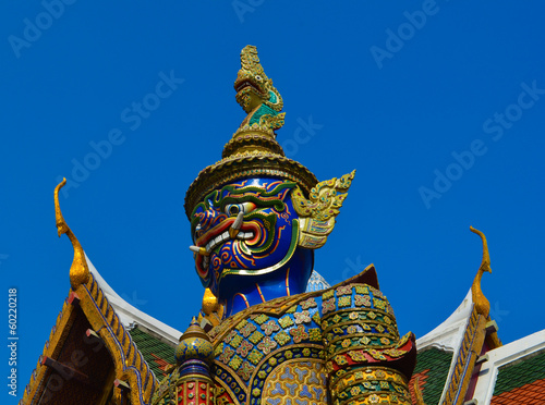 wat Phra Kaeo Grand Palace - Statue face