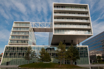 Modernes Bürogebäude in Wien, Österreich