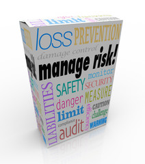 Manage Risk Package Box Security Safety Limit Liability Loss