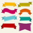 Colorful Cartoon Ribbons