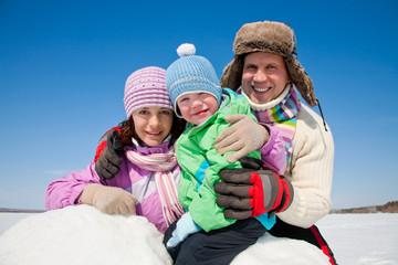 family in wintertime