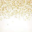 Vector Illustration of a Party Background with Golden Confetti