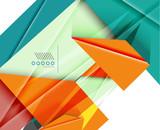 Colorful realistic geometric shape design template