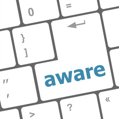 aware word on keyboard key, notebook computer