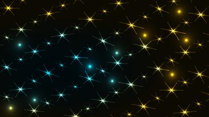 abstract star night