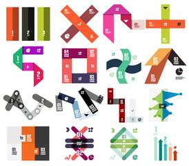 Set of stripes infographic design templates