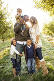 Beautiful Multi Ethnic Family Portrait Outdoors