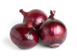 Ripe red onion bulbs