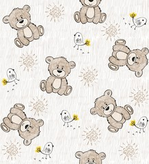 Cute hand draw seamless pattern for kids.