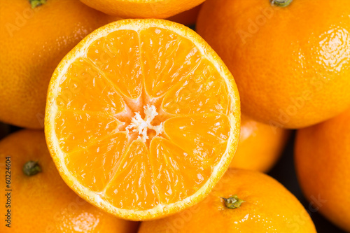 Slice of mandarin © seralex