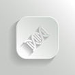 DNA icon - vector white app button