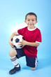 Young Hispanic Soccer Player Portrait