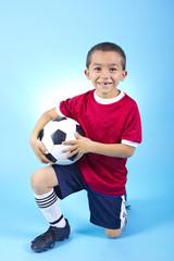 Young Hispanic Soccer Player Portrait