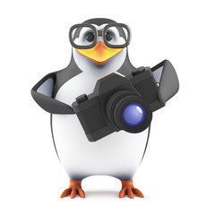 Academic penguin snaps a picture