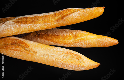 Baguette. Fresh bread isolated