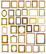 Set of many gilded frames. Isolated over white background - 60226000