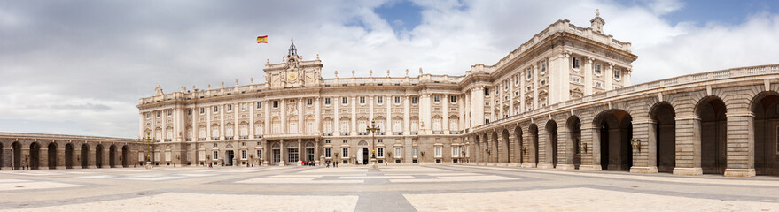 Panoramic view of Royal Palace of Madrid