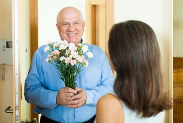 woman meeting her man