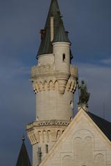 Tower of Neuschwanstein Castle in Bavaria