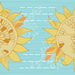 Card with Sunflowers