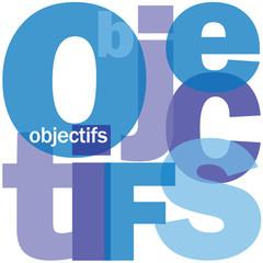 """Mosaïque de Mots """"OBJECTIFS"""" (résultats performance management)"""