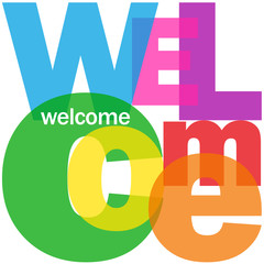 """WELCOME"" Letter Collage (card smile congratulations greetings)"