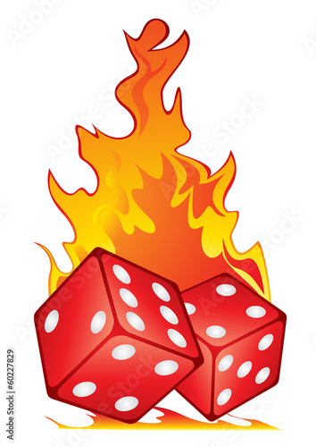 Dices in fire