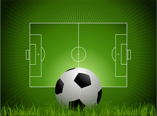 Football background with soccer field