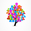 logo business abstract tree