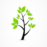 logo business abstract tree eco