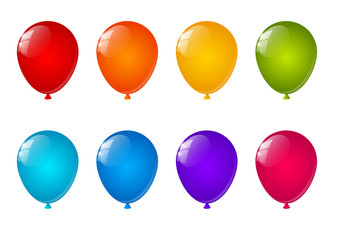 Set of color air balloons