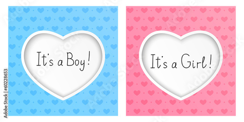 Greeting card for boy and girl