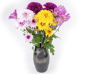 菊の花々の生け花