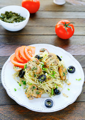 pasta with roasted mushrooms and tomatoes