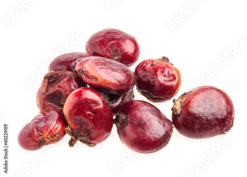 Dried Sumac berries isolated on white