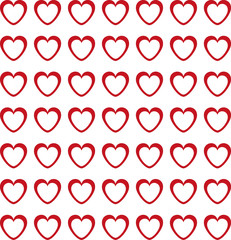 texture of red and white hearts