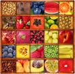frutta in bacheca collage