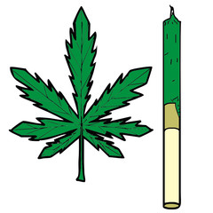 cannabis vector drawing