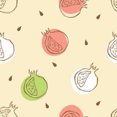 Pomegranate pattern. Vector illustration