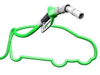 Green car pump