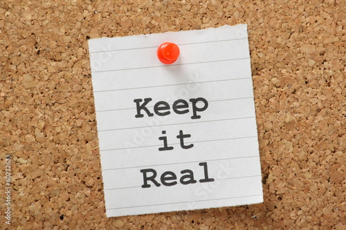 Keep It Real Notice Board Concept