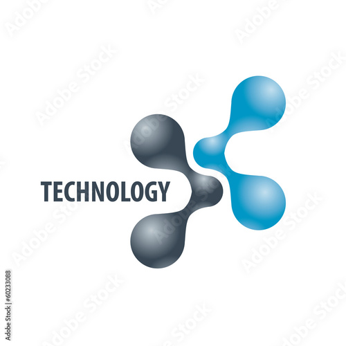 Technology logo in the form of atoms2
